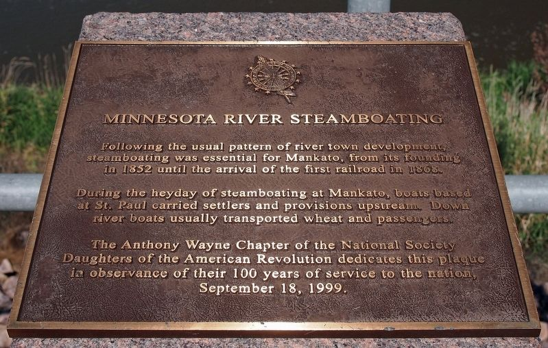 Minnesota River Steamboating marker image. Click for full size.
