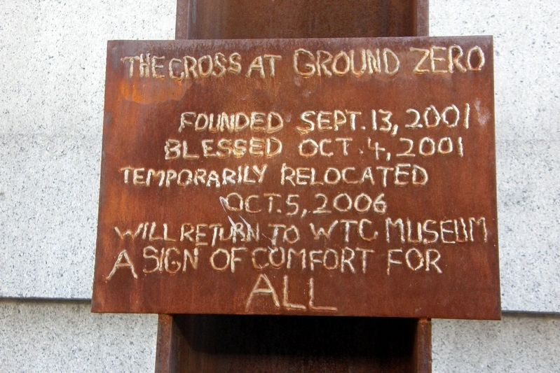 The Cross at Ground Zero Marker image. Click for full size.