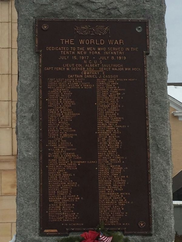 The World War Marker image. Click for full size.