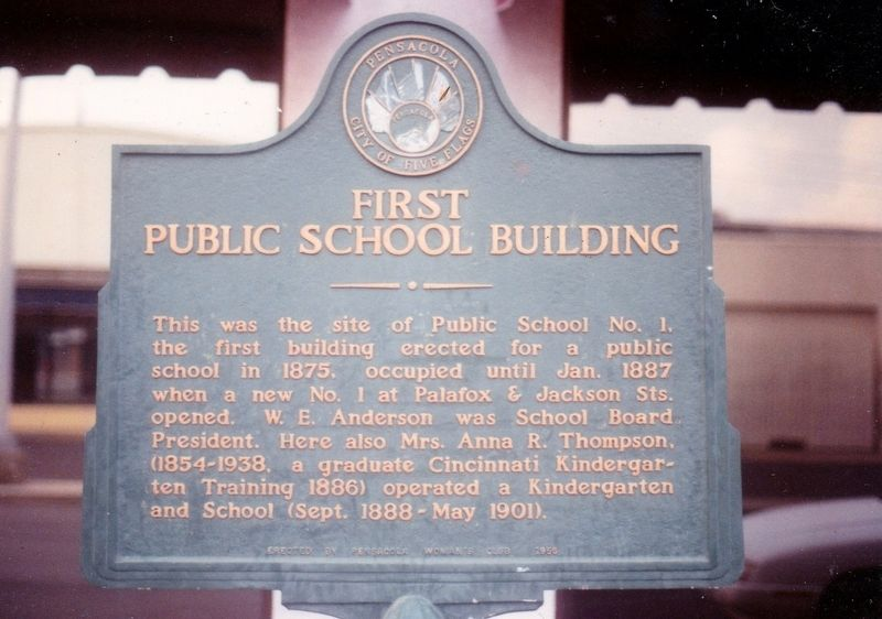 First Public School Building Marker image. Click for full size.