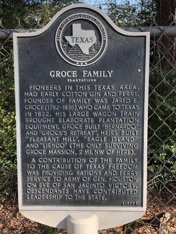 Groce Family Plantations Marker image. Click for full size.