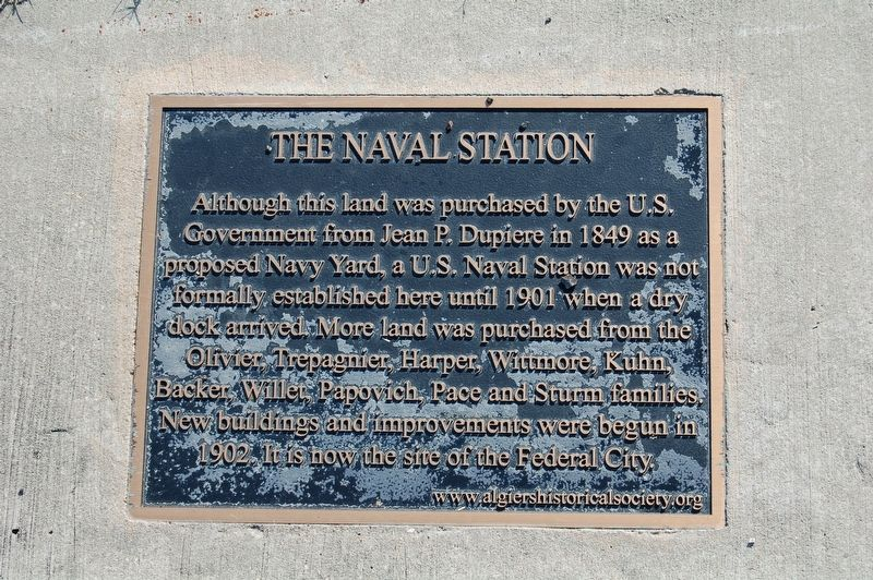 The Naval Station Marker image. Click for full size.