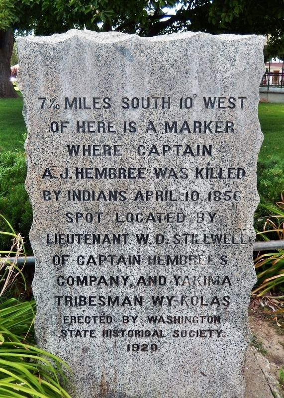 Captain A. J. Hembree Monument image. Click for full size.