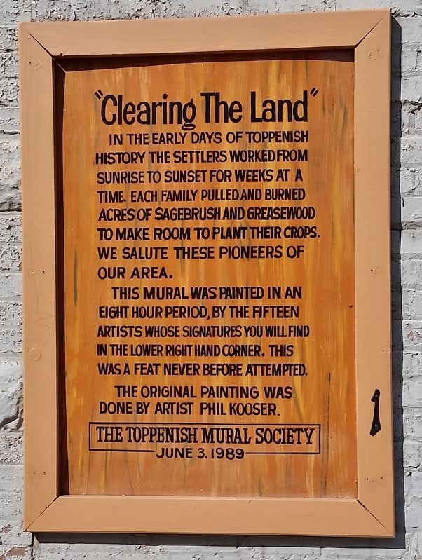 Clearing the Land Marker image. Click for full size.