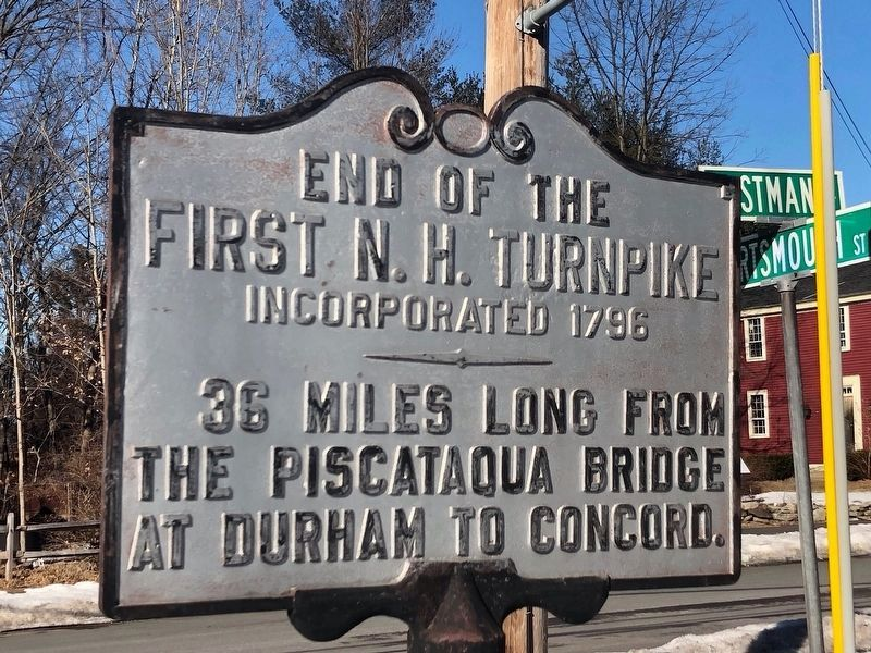 End of First N. H. Turnpike Marker image. Click for full size.