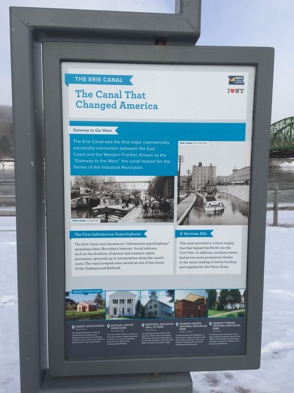 The Canal That Changed America Marker image. Click for full size.