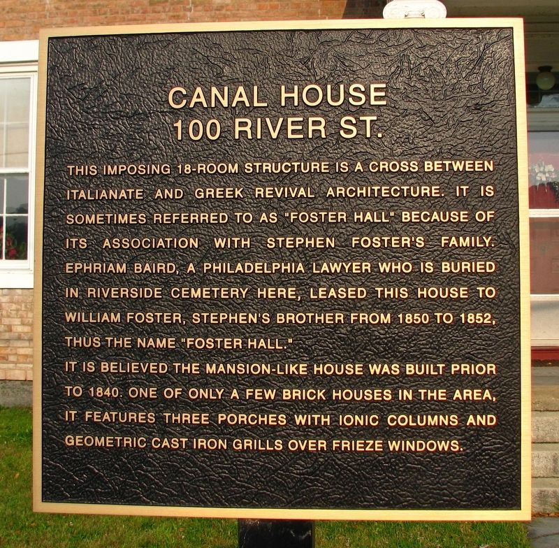 The Canal House Marker image. Click for full size.