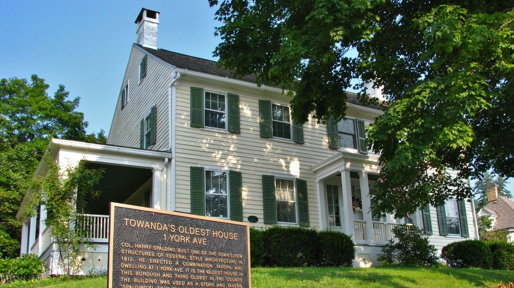 Towanda's Oldest House image. Click for full size.
