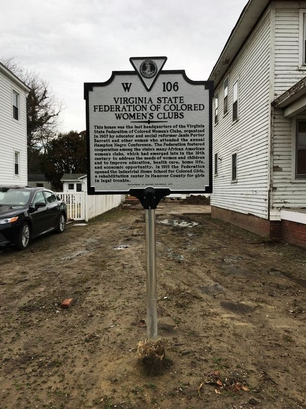 Virginia State Federation of Colored Women's Clubs Marker image. Click for full size.