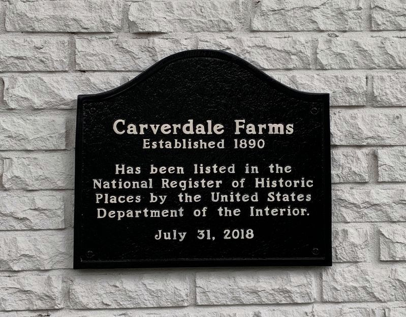 Carverdale Farms Marker image. Click for full size.