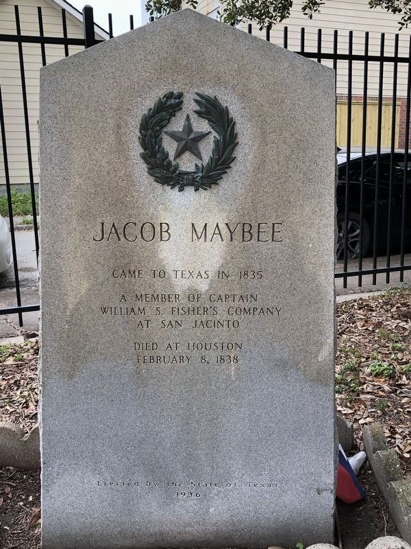 Jacob Maybee Marker image. Click for full size.
