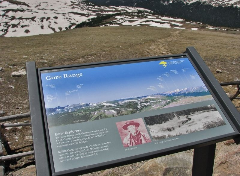 Gore Range Marker (<i>wide view</i>) image. Click for full size.