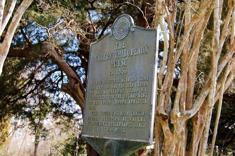 The Valery Thibodeaux House Marker image. Click for full size.