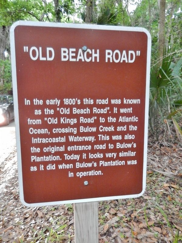 Old Beach Road Marker image. Click for full size.