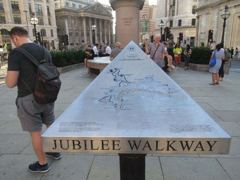 Royal Exchange Jubilee Walkway Marker image. Click for full size.