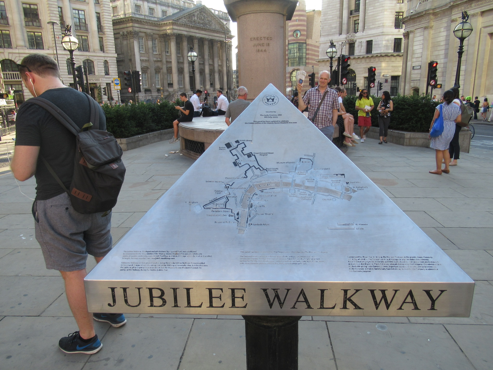Royal Exchange Jubilee Walkway Marker