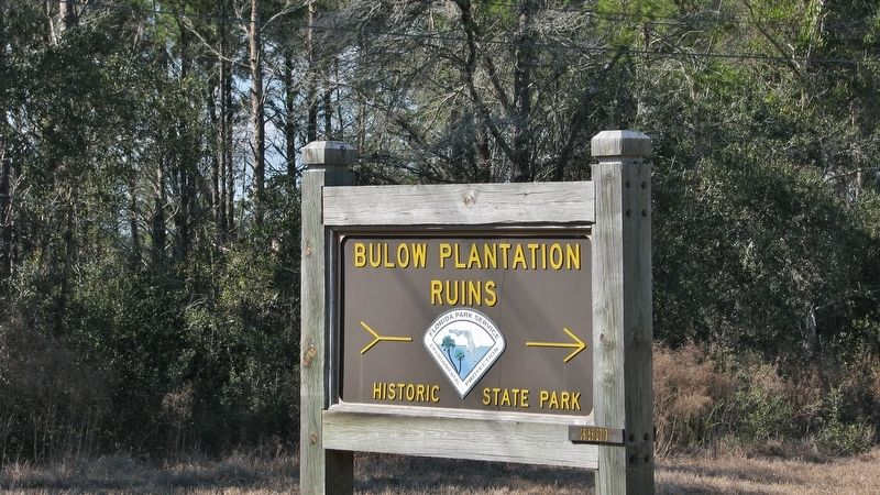 Bulow Plantation Ruins Historic State Park sign image. Click for full size.