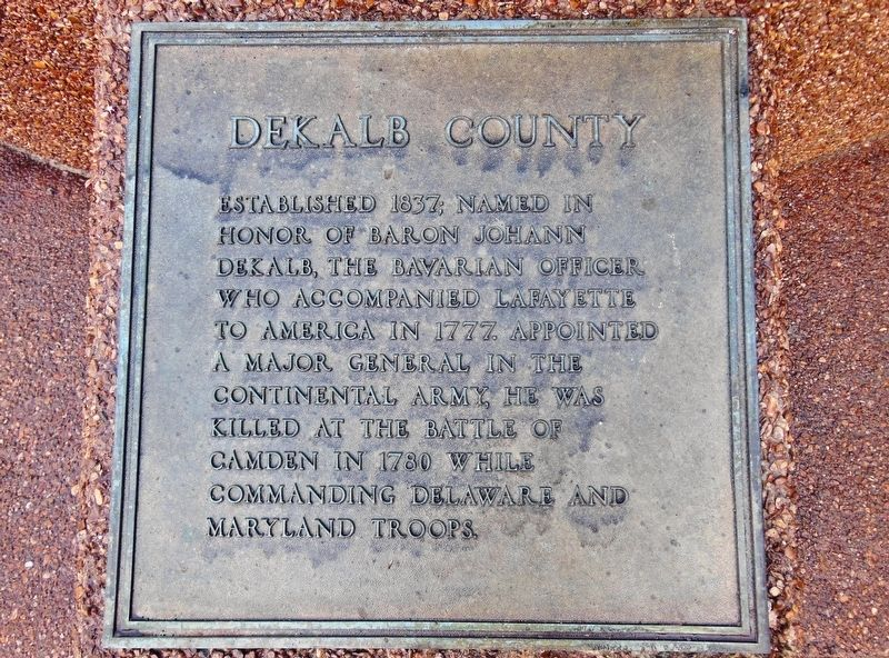 Dekalb County Marker image. Click for full size.