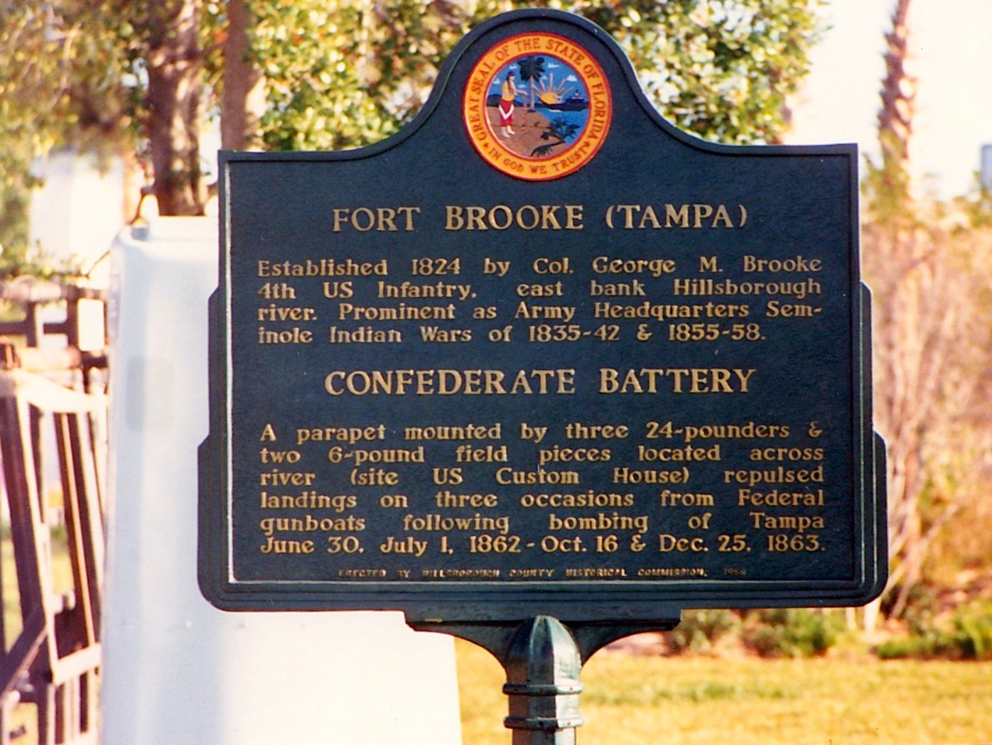Fort Brooke-Confederate Battery Marker