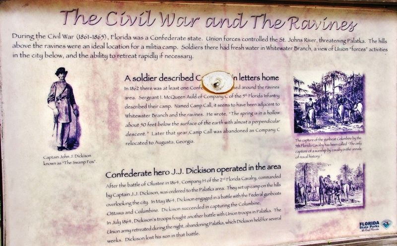 The Civil War and the Ravines Marker image. Click for full size.