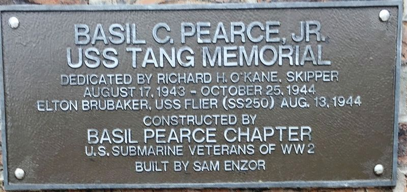 Basil C. Pearce Jr. USS Tang Memorial image. Click for full size.