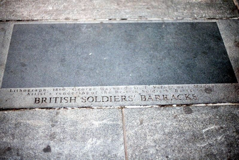 Former British Soldiers' Barracks Marker image. Click for full size.