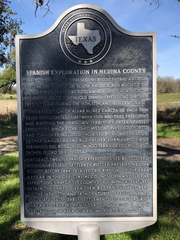 Spanish Exploration in Medina County Marker image. Click for full size.