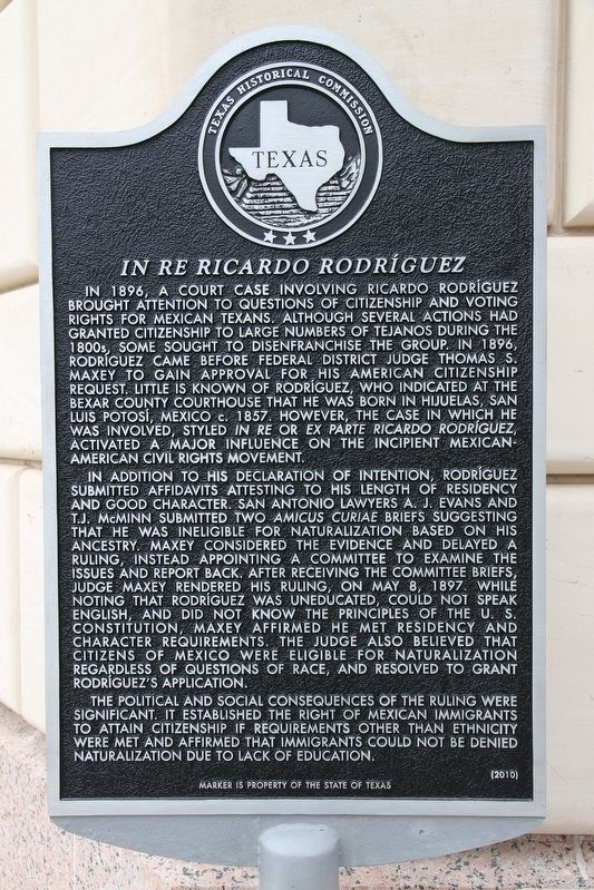In Re Ricardo Rodriguez Marker image. Click for full size.