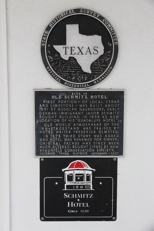Site of Old Schmitz Hotel Marker image. Click for full size.