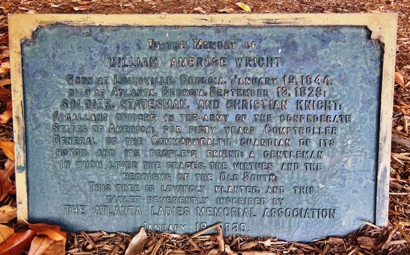 William Ambrose Wright Marker image. Click for full size.