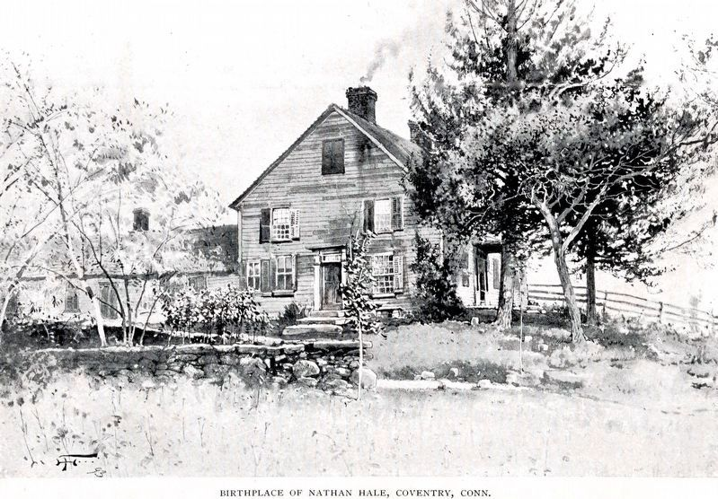 Birthplace of Nathan Hale, Coventry Connecticut image. Click for full size.