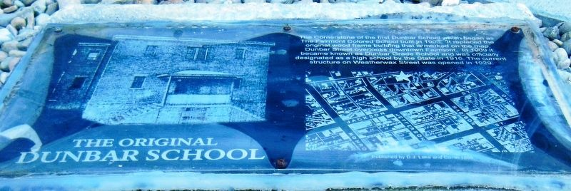 The Original Dunbar School Marker image. Click for full size.