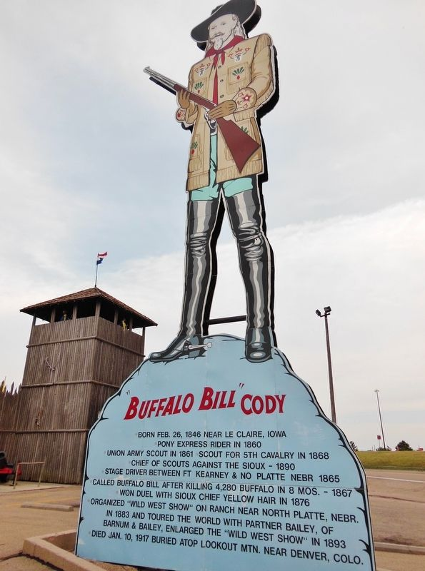 """Buffalo Bill"" Cody Marker (<i>tall view</i>) image, Touch for more information"