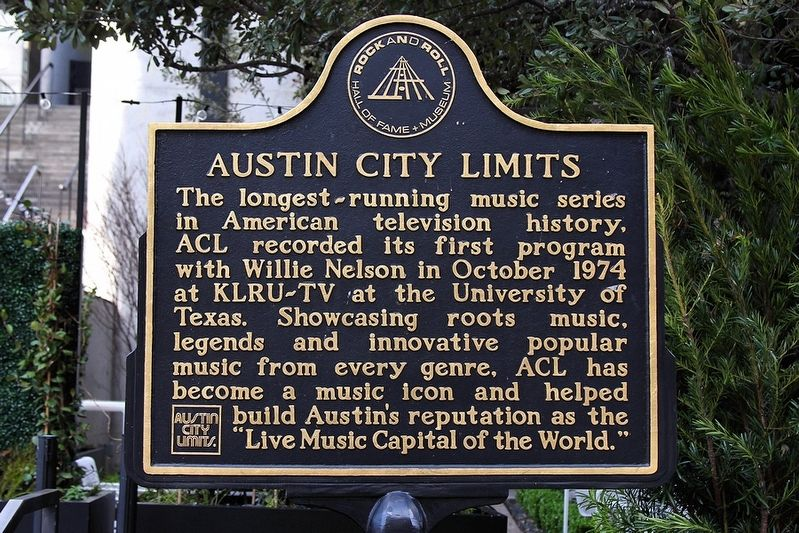 Austin City Limits Marker image. Click for full size.