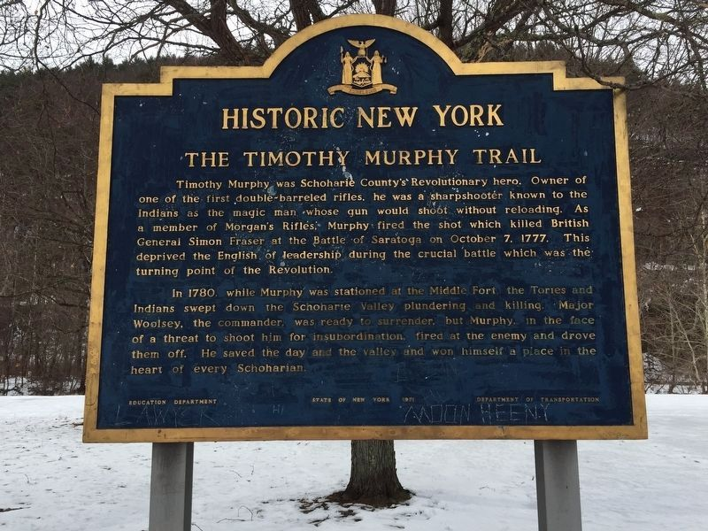 The Timothy Murphy Trail Marker image. Click for full size.