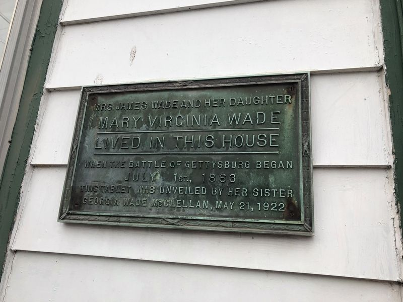 Mary Virginia Wade Lived in This House Marker image. Click for full size.