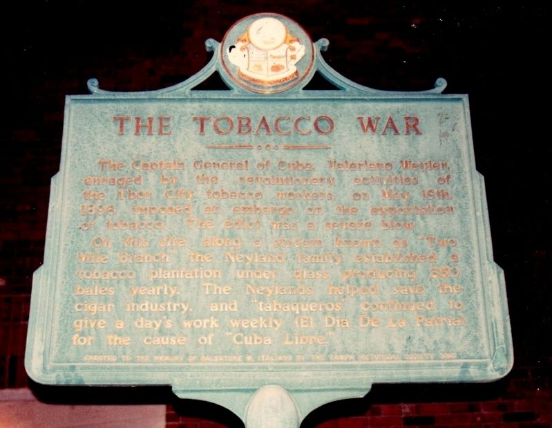 The Tobacco War Marker image. Click for full size.