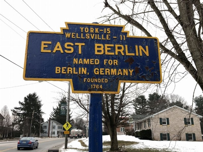 East Berlin Marker image. Click for full size.