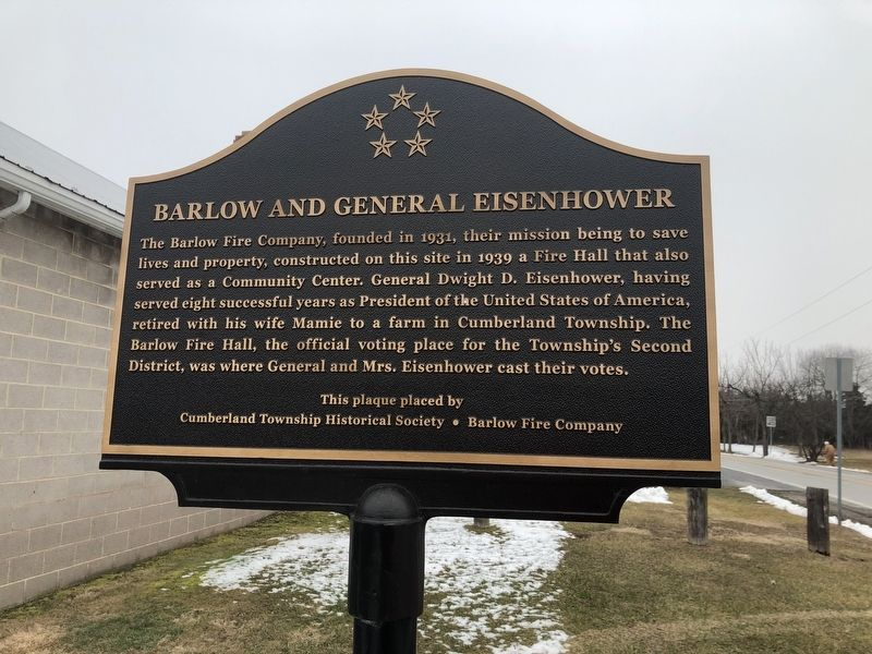 Barlow and General Eisenhower Marker image. Click for full size.