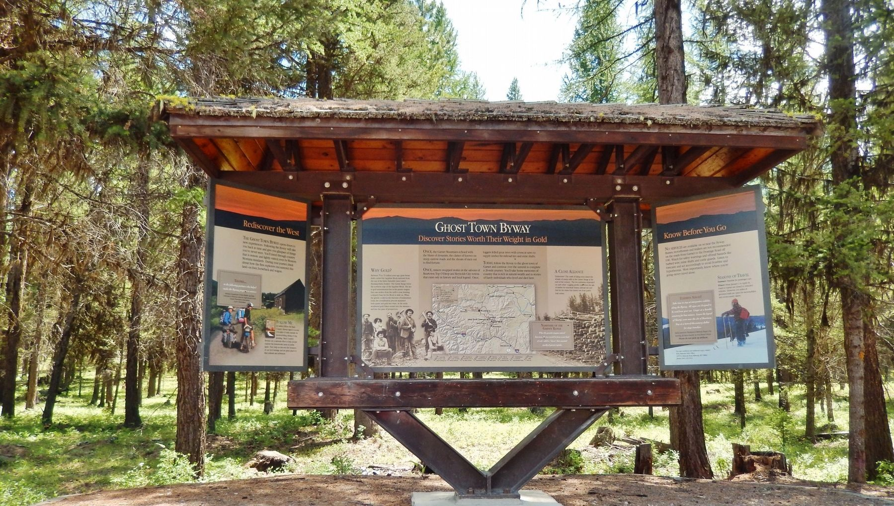 Ghost Town Byway Marker Kiosk image. Click for full size.