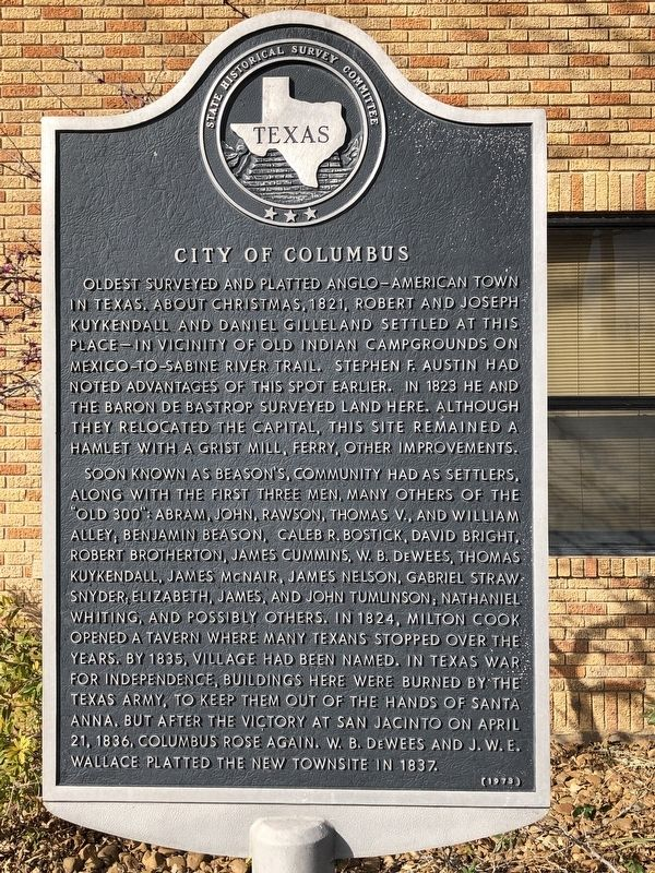City of Columbus Marker image. Click for full size.