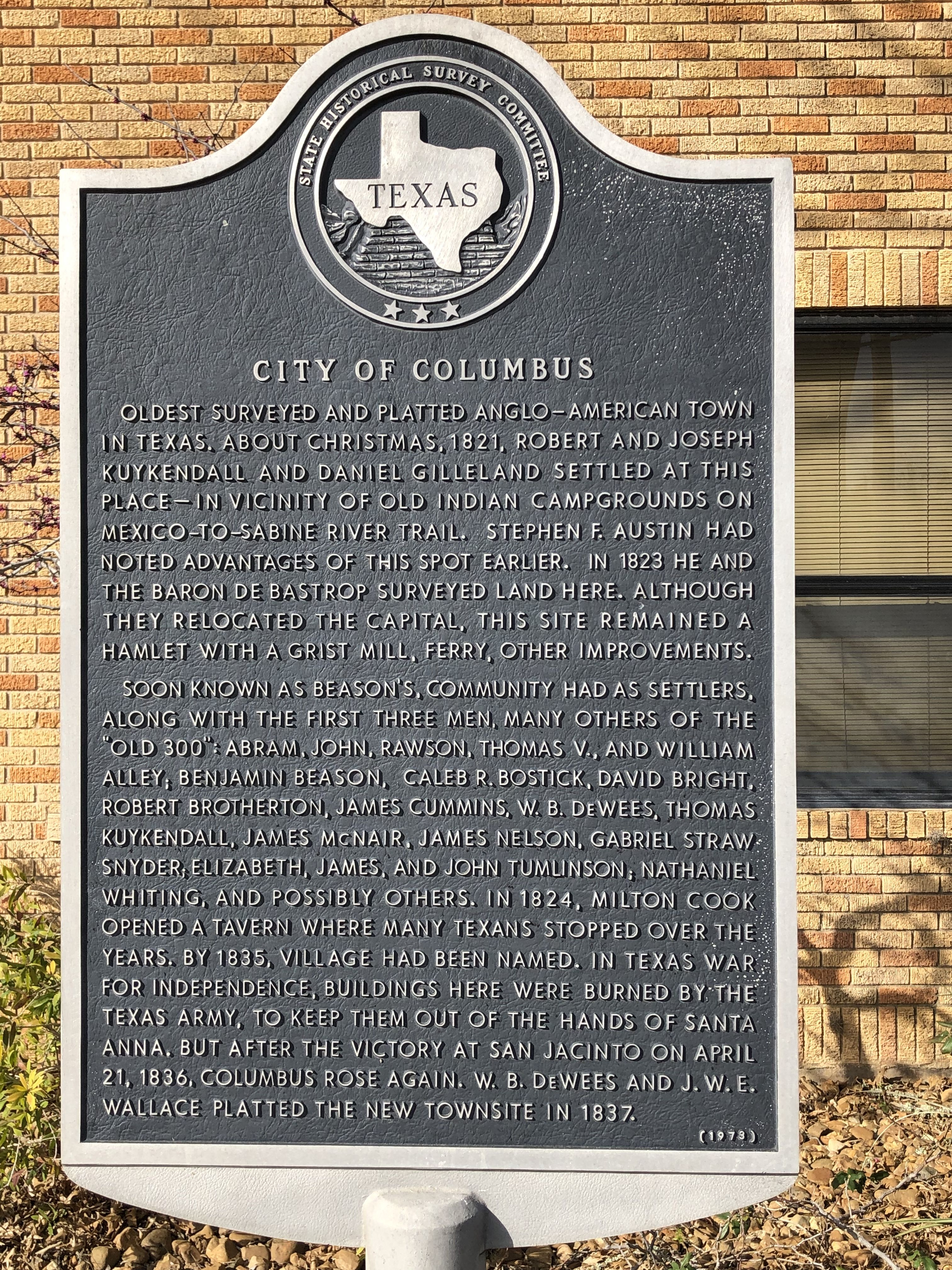 City of Columbus Marker