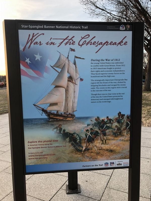 War in the Chesapeake sign image. Click for full size.