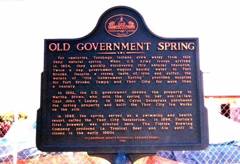 Old Government Spring Marker image. Click for full size.