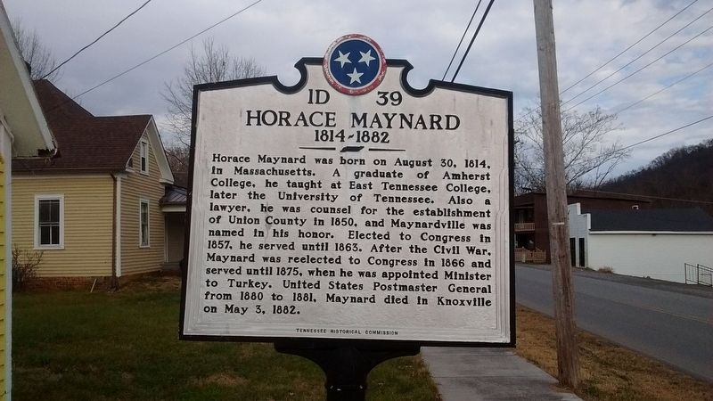 Horace Maynard Marker image. Click for full size.