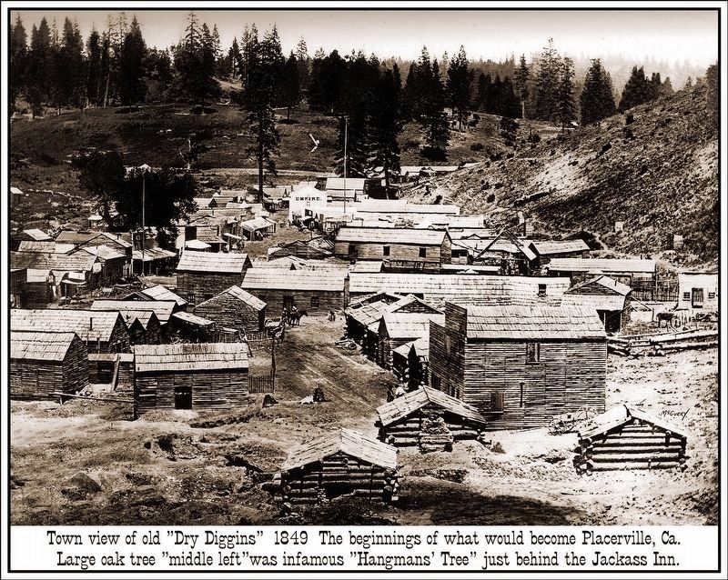 Placerville, Ca c1851 image. Click for full size.