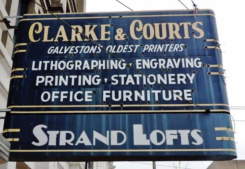 Clarke & Courts Building Sign image. Click for full size.