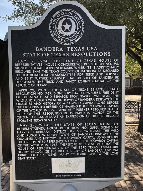 Bandera, Texas USA Marker image. Click for full size.