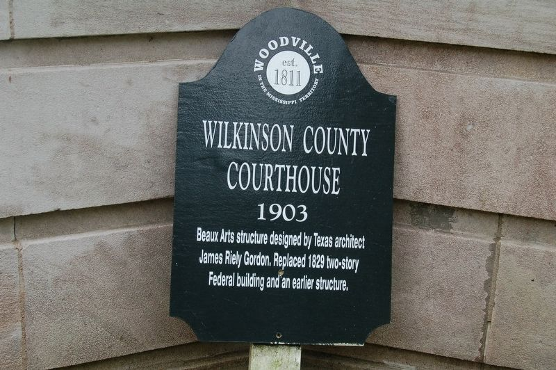 Wilkinson County Courthouse Marker image. Click for full size.