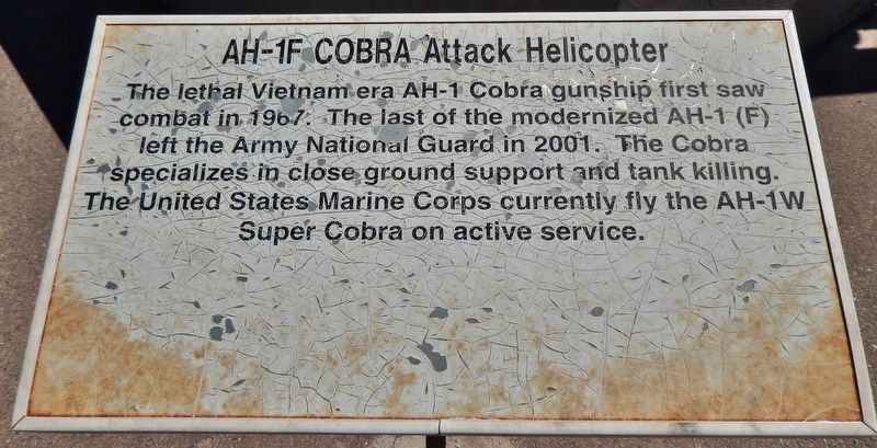 AH-1F COBRA Attack Helicopter Marker image. Click for full size.